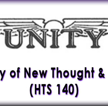 History of New Thought & Unity (HTS 140)